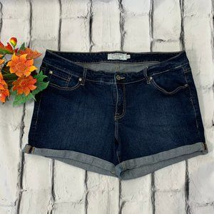 Torrid Denim Shorts w/ rolled cuffs